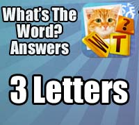 whats the word answers 3 letters