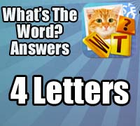 what's the word answers iphone 4 letters