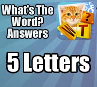 whats the word answers 5 letters