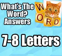 what's the word answers android 7-8 letters
