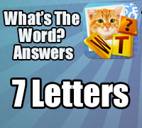 what's the word answers iphone 7 letters