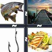 4 pics 1 word answer cheat Fish