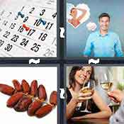 4 pics 1 word answer cheat Date