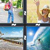 4 pics 1 word answer cheat Wave