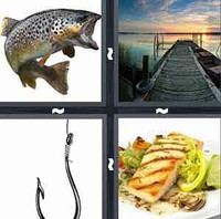 4 Pics 1 Word Fish