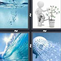 4 Pics 1 Word Levels Water