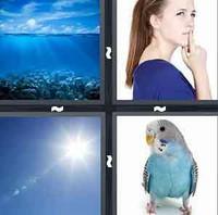 4 Pics 1 Word Blue