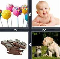 4 Pics 1 Word Sweet
