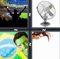 4 Pics 1 Word Fan