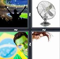 4 Pics 1 Word Fan