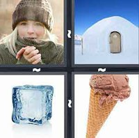 4 Pics 1 Word Cold