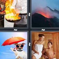 4 Pics 1 Word Hot