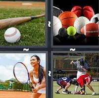 4 Pics 1 Word Sports