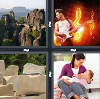4 Pics 1 Word Rock