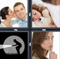 4 Pics 1 Word Quiet