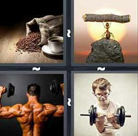 4 Pics 1 Word Strong