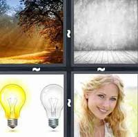 4 Pics 1 Word Light
