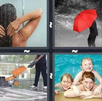 4 Pics 1 Word Wet
