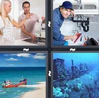 4 Pics 1 Word Sink
