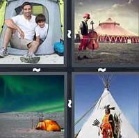 4 Pics 1 Word Tent
