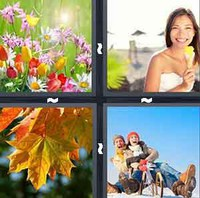 4 Pics 1 Word Seasons