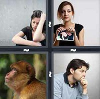 4 Pics 1 Word Sad