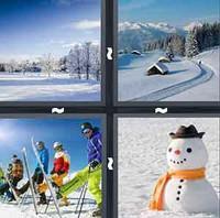 4 Pics 1 Word Snow