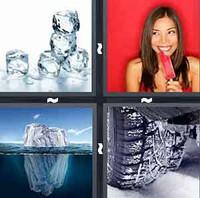 4 Pics 1 Word Ice