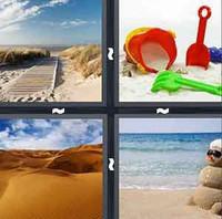 4 Pics 1 Word Sand