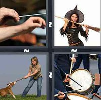4 Pics 1 Word Stick
