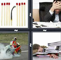 4 Pics 1 Word Burnout
