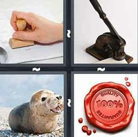 4 Pics 1 Word Levels Seal
