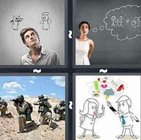 4 Pics 1 Word Conflict