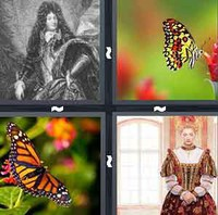 4 Pics 1 Word Monarch