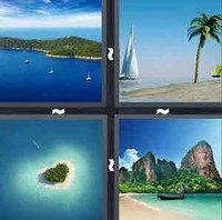 4 Pics 1 Word Levels Island