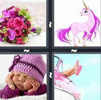 4 Pics 1 Word Levels Pink