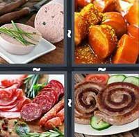 4 Pics 1 Word Sausage