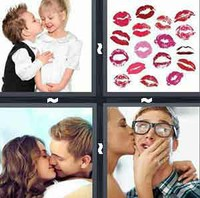 4 Pics 1 Word Levels Kiss