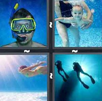 4 Pics 1 Word Diving