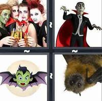 4 Pics 1 Word Vampire