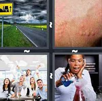 4 Pics 1 Word Reaction