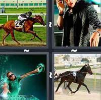 4 Pics 1 Word Jockey