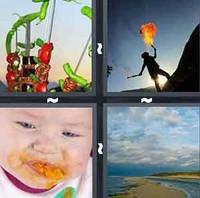 4 Pics 1 Word Levels Spit