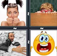 4 Pics 1 Word Levels Scared