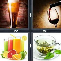 4 Pics 1 Word Beverage