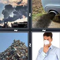4 Pics 1 Word Levels Pollute