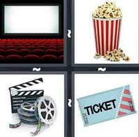 4 Pics 1 Word Cinema
