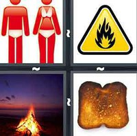 4 Pics 1 Word Burn
