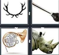 4 Pics 1 Word Horn