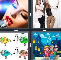 4 Pics 1 Word Singing